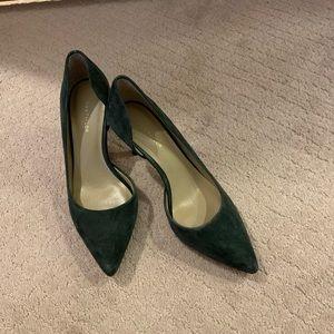Ann Taylor Suede D'orsay pumps